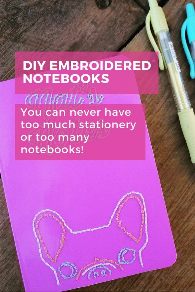 You can never have too much stationery or too many notebooks.  Customise and prettify yours with some sewing. Beginner friendly! #diy #notebook #easy