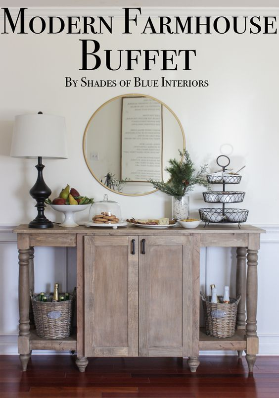 Modern Farmhouse Buffet - Downloadable build plans