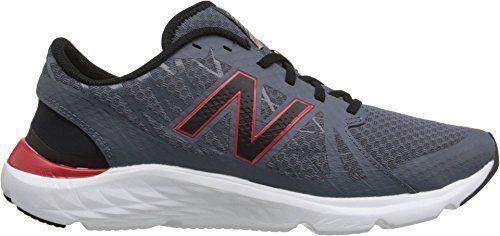 NWT New Balance Men's  sz 11 Round Toe Running Shoe Gray Red #NewBalance #RunningCrossTraining