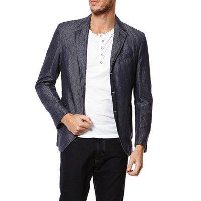 Prezzi e Sconti: #Mcs blazer in misto lino blu jeans Uomo  ad Euro 208.00 in #Giacche #Cappotti e giubotti