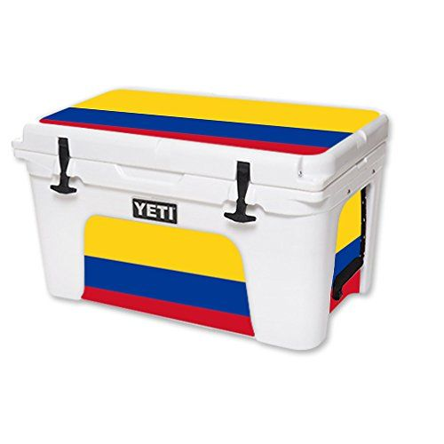 MightySkins Protective Vinyl Skin Decal for YETI Roadie 20 qt Cooler wrap cover sticker skins Colombian Flag * Click on the image for additional details.