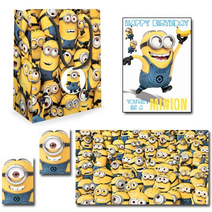 Despicable Me Official Birthday Pack Includes; 1 x Birthday Card, 1 x Small Sized Despicable Me gift bag, 1 x Pack of 2 sheet 2 tag wrapping paper. Only £5.50 and FREE UK Delivery.   Take a closer look now at https://www.danilo.com/Shop/Cards-and-Wrap/Birthday-Packs/Despicable-Me-Birthday-Pack