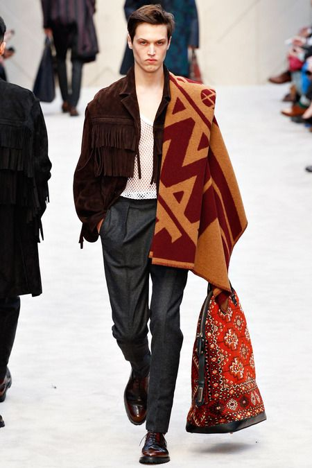 Burberry Prorsum | Fall 2014 Menswear Collection | Gives new meaning to the term carpetbagger!