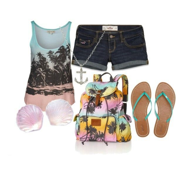 Ok, so, this is a super cute outfit for the Summer! Especially for  a nice hike on the beach!  I also think this outfit would be cute with jeans and converse! <3
