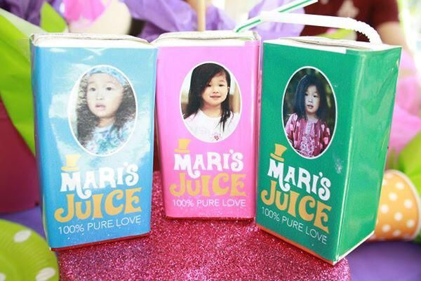 Mari's personalised juices #willywonkaparty
