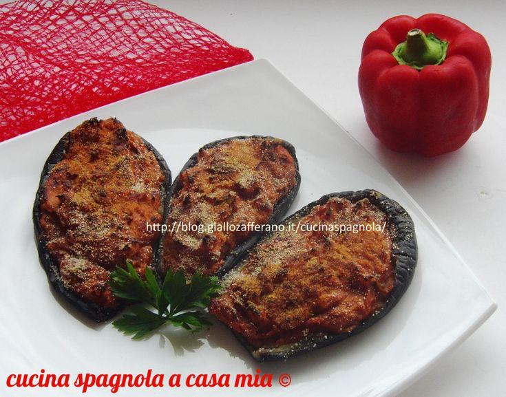 melanzane ripiene alla minorchina con peperoni e pan grattato
