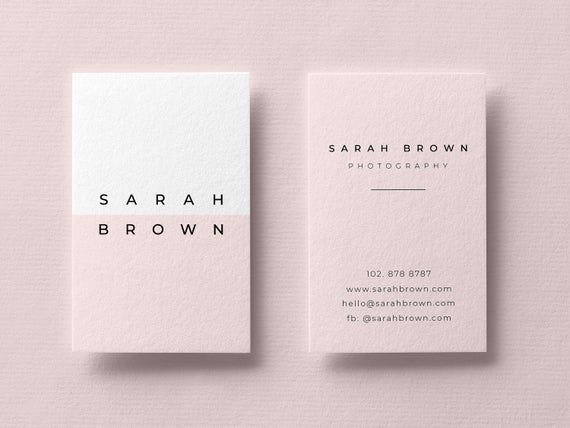 Pink Business Card Business Card Templates Modern Business Cards Minimalist Busi Graphic Design Business Card Minimalist Business Cards Business Card Design