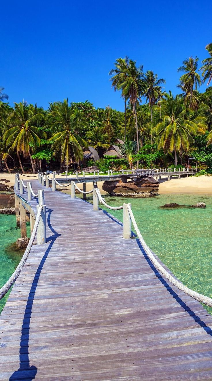 Beautiful Wood jetty pier on the beach at Koh Kood Island, Thailand | 10 Idyllic Surreal Places that Make Thailand One of the Most Beautiful Countries in The World