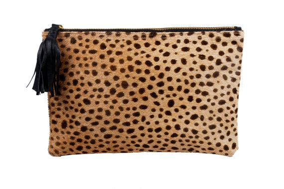 Leopard clutch Leopard Clutch Leather leopard by MimicDesign