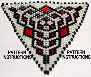 Bead Pattern Instructions Peyote Triangle by SkeeterStudios, $5.00