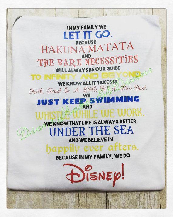 Disney shirt Disney quotes shirt Disney by DianeMakesItDivine