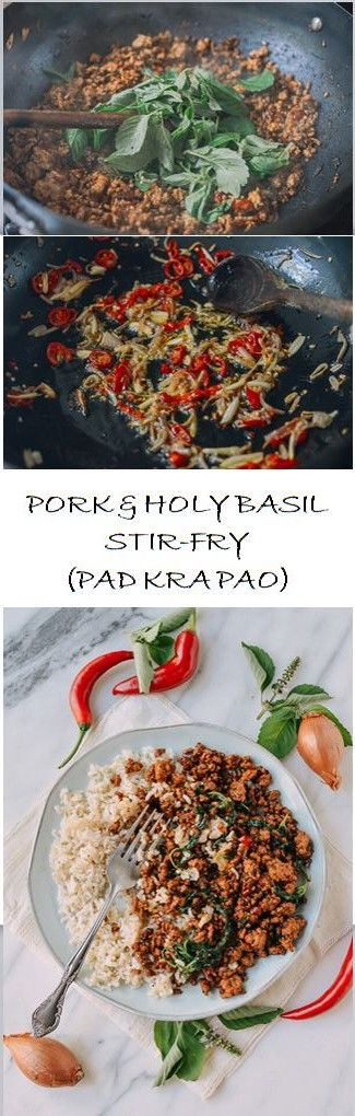 Pork and Holy Basil Stir-fry (Pad Kra Pao) recipe by the Woks of Life