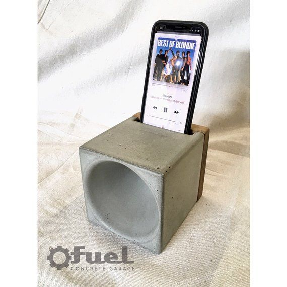 The Cube Concretewood Passive Phone Amplifier Products