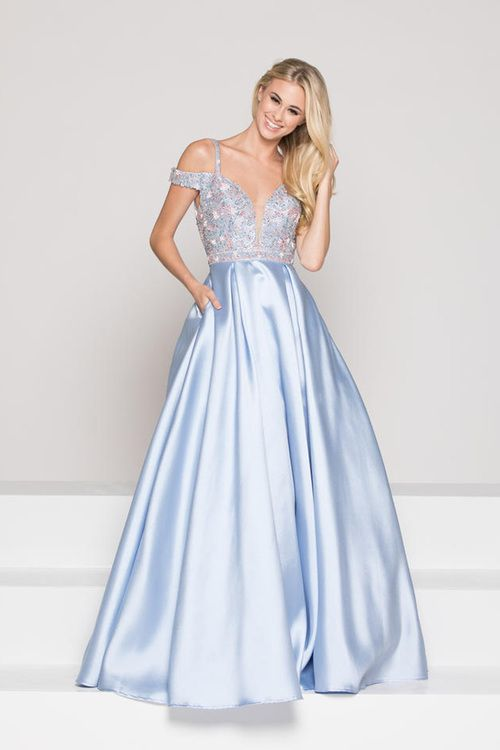 cc948c9289 Colors Dress - 1948 Embellished V-neck Ballgown/ Long Prom Dress (Cutout  shoulders, Embellishments, Plunging neckline, Back cutout, Ballgown skirt,  ...