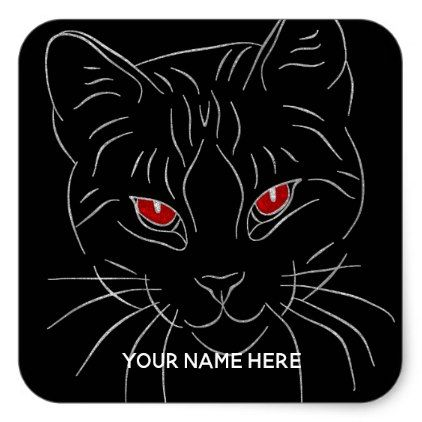 Cat Stickers Animal Personalized Sticker - cat cats kitten kitty pet love pussy