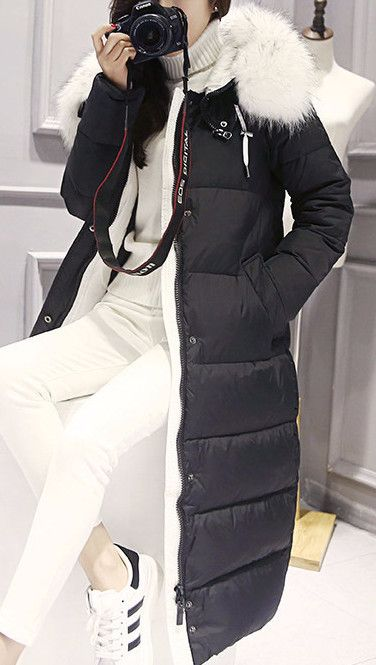 White Down Winter Coat - Sassy Posh - 7