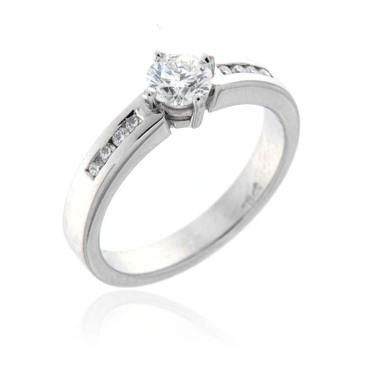 Contemporary Diamond Engagement Ring – 3300004