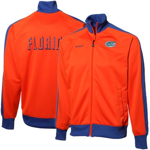 Columbia Florida Gators Orange Royal Blue Acceleration Trackster Full Zip Performance Jacket