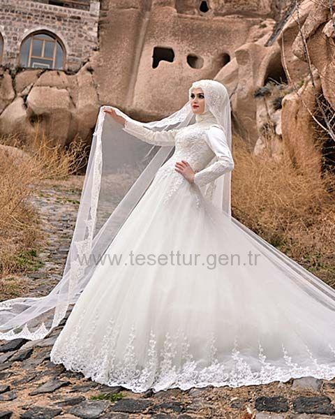Hanımeli Moda Tesettür Gelinlik Modelleri Model:35