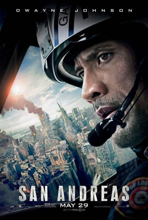 San Andreas-3D (May 29, 2015) an action, disaster film, directed by Brad Peyton. Stars: Dwayne Johnson, Art Parkinson, Carla Gugino, Alexandra Daddario, Will Yun Lee, loan Gruffudd and others. Set after a devastating earthquake hits California and a rugged rescue helicopter pilot makes a perilous trip across the state to rescue his estranged daughter.