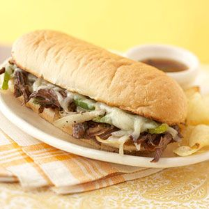 Italian-Style French Dips - quick & easy left-over meal