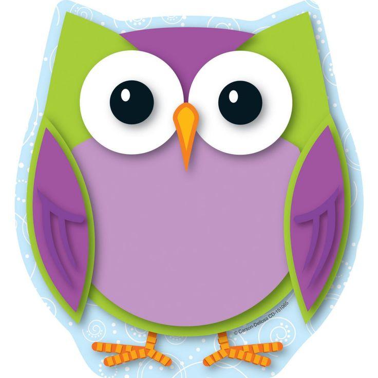 Carson-Dellosa Colorful Owl Notepad