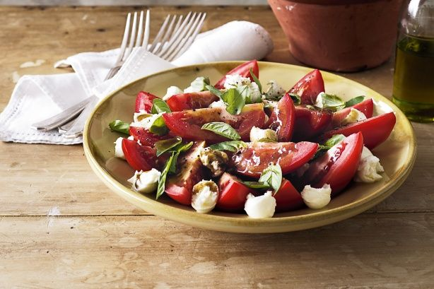 Bring the national colours of Italy to your table with this delicious balsamic-dressed salad.