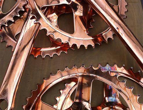 van Heesch copper chain wheel