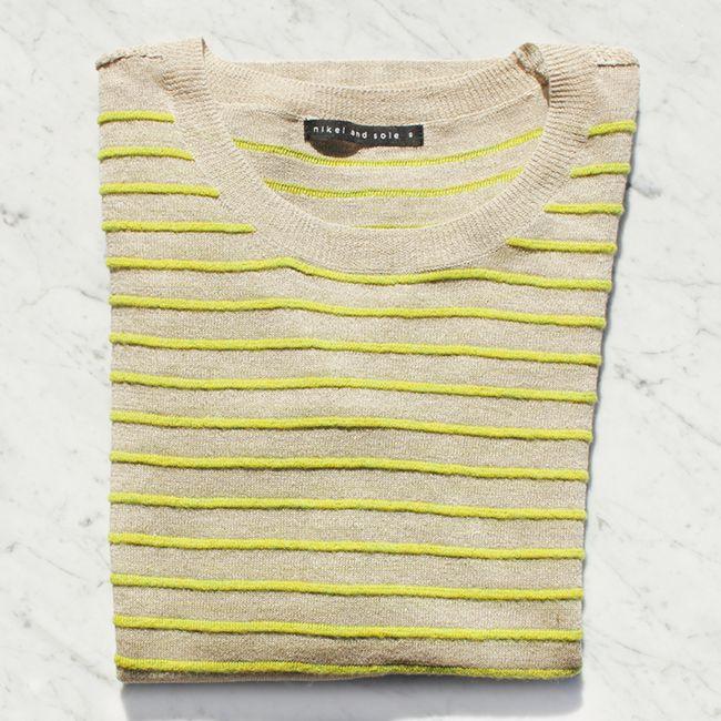 The Clara Knit | cotton + linen | #nikelandsole #designedinmelbourne #knitwear #cotton #linen