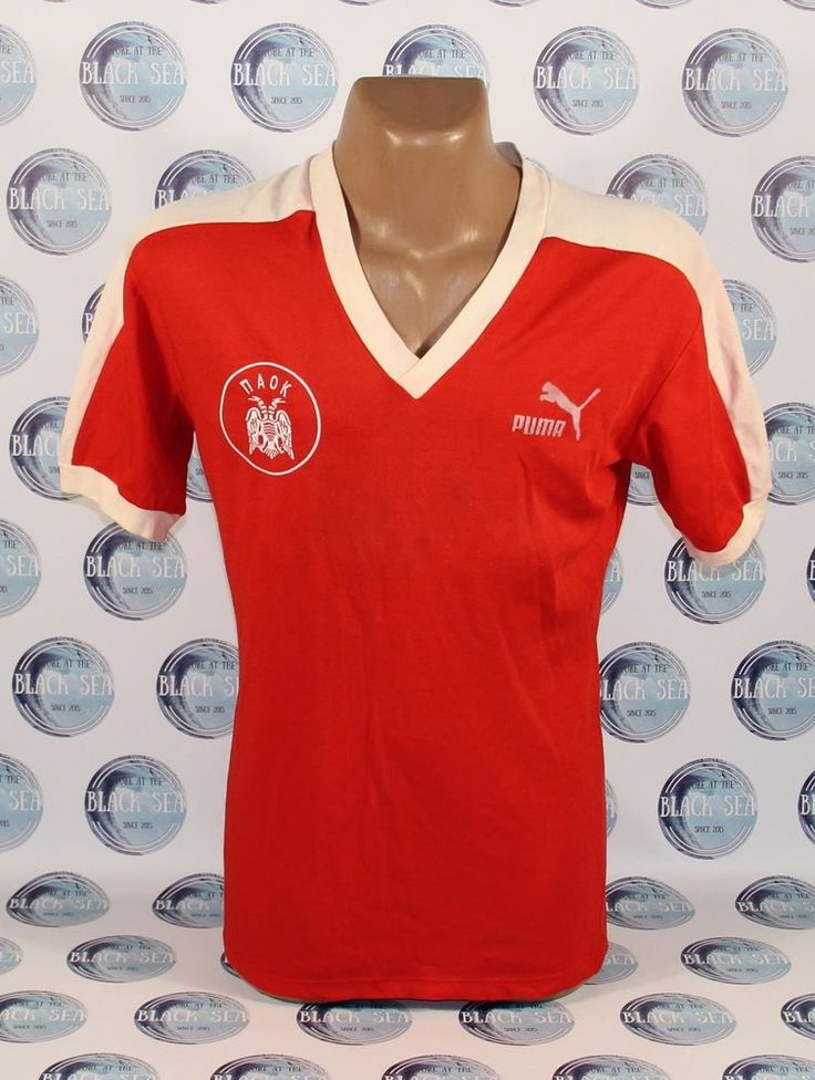 PAOK FC 1978-1984?? FOOTBALL SOCCER SHIRT JERSEY TRIKOT MAGLIA CAMISETA RED RARE #adidas #ZURICH