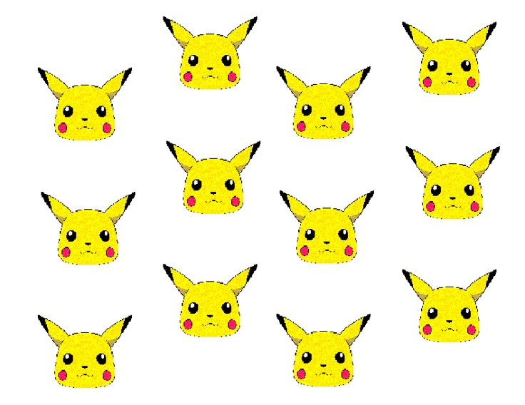 Pikachu Template For Cake