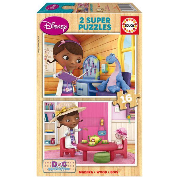 choisi par les parents. Des puzzles au choix. Elle aime surtout docteur la peluche. Elle a déjà Peppa et barbapapa