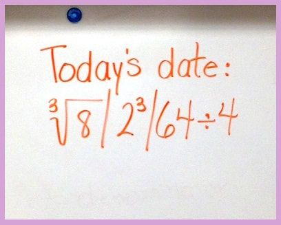 Use the date to create mathematical expressions and equations.