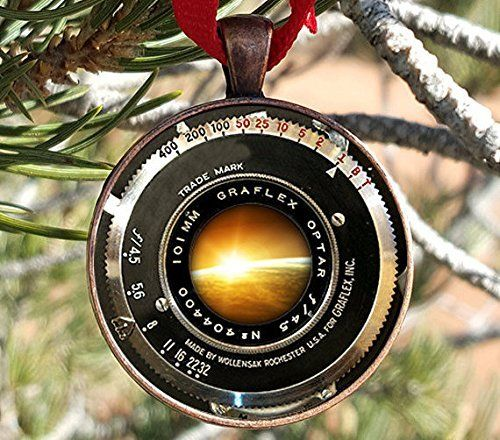 Jewelry tycoon® VINTAGE CAMERA LENS Ornament Antique Came...