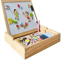 Writing board magnetic jigsaw puzzle double easel for kids,Christmas presents If you wanna purchase a lot,contact silkro@sina.cn (Silkro Trade Company)