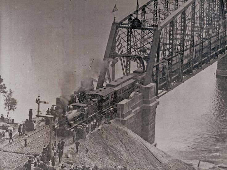 Opening of the first Hawkesbury River Bridge, NSW, 1889