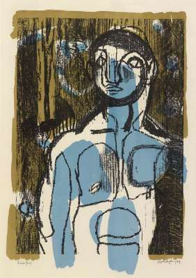 """Blue Boy"", 1949, by Keith Vaughan (1912–1977)"