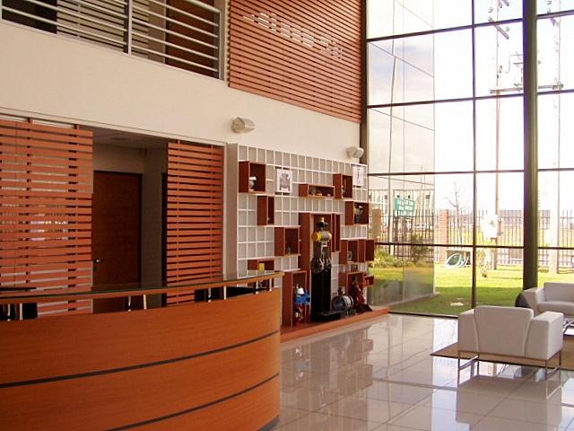 Panorámica de zona de exhibición de productos y treillage en primer y segundo piso.