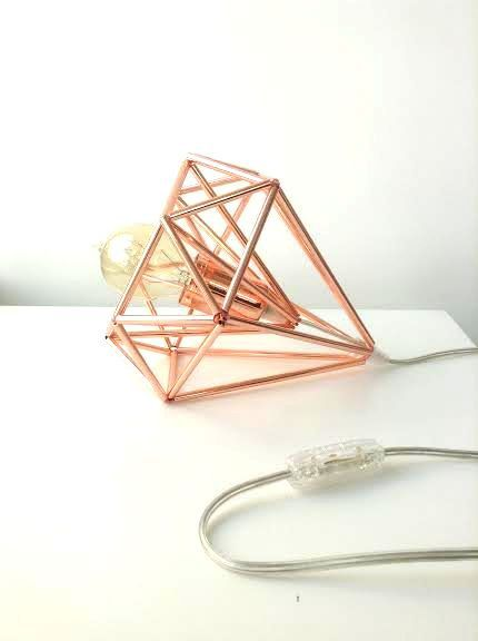 Himmeli light Cage table lamp industrial metal minimal table lamp light geometric minimal on Etsy, £52.11