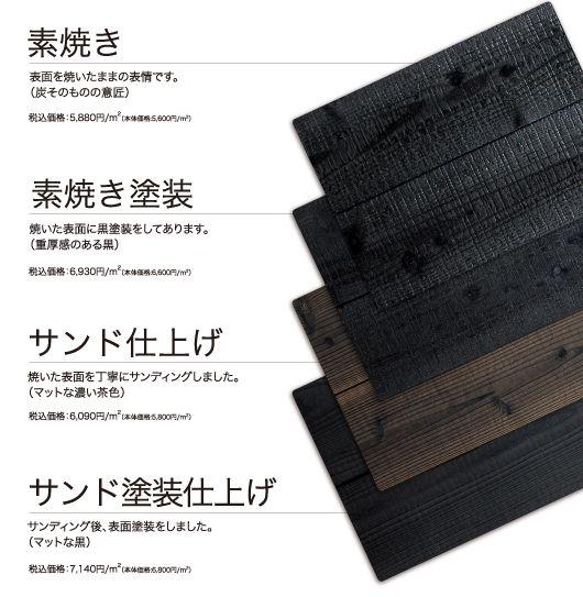 Yaki sugi Suyaki Burnt Cedar Siding