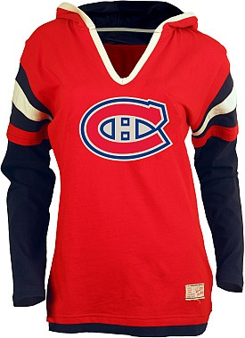 Old Time Hockey Montreal Canadiens Women's Marte Fooler Hood T-Shirt  - Shop.Canada.NHL.com