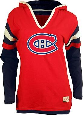 Old Time Hockey Montreal Canadiens Women's Marte Fooler Hood T-Shirt - Shop.Canada.NHL.com