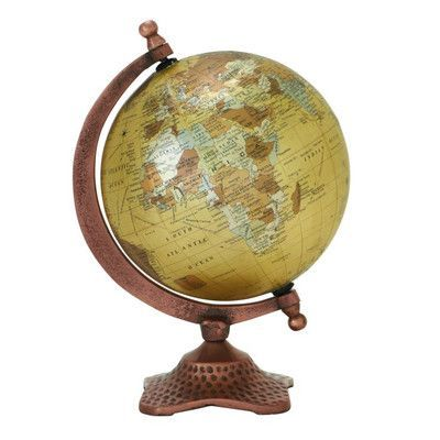 Breakwater Bay Aluminum Pvc Globe Globe Decor Desk Globe Globe