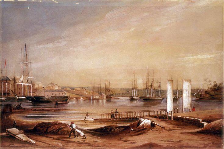Circular Quay in Sydney in 1839.