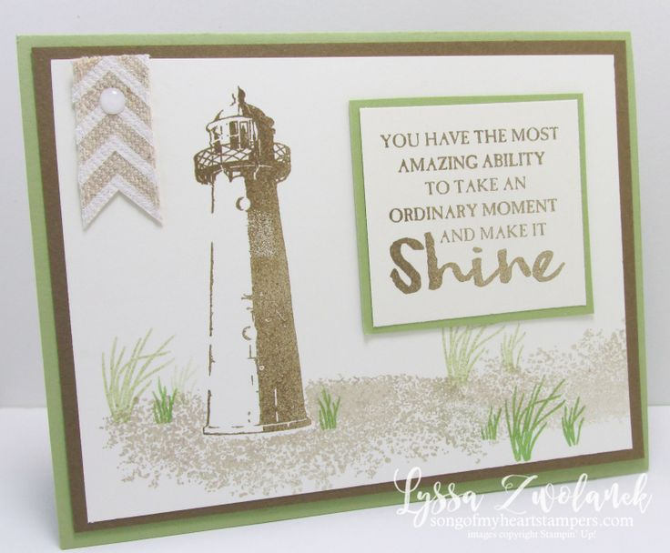 High Tide Stamp Set of the Month Club Stampin Up Song of My Heart Lyssa Zwolanek technique tutorial