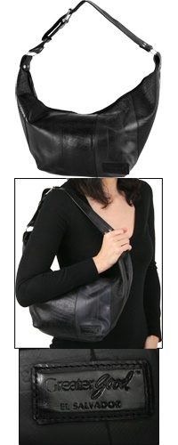 Recycled Tire Tube Handbag - Sonia  Funds 50 cups of food.    $48.95