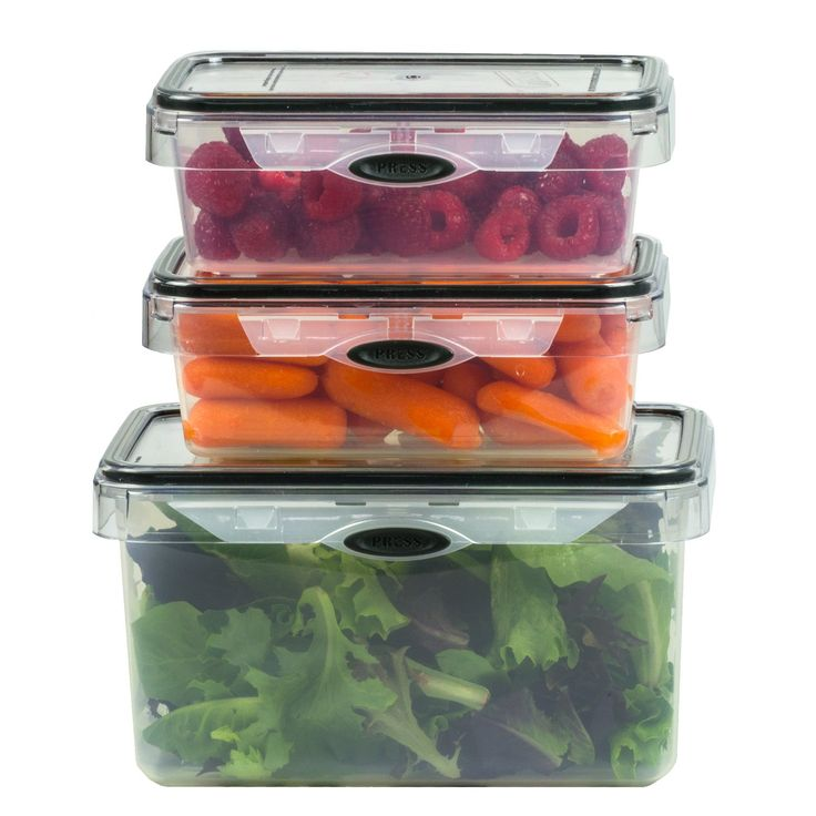plastic container for kitchen storage stor all press n click 6 set rectangular plastic 7504