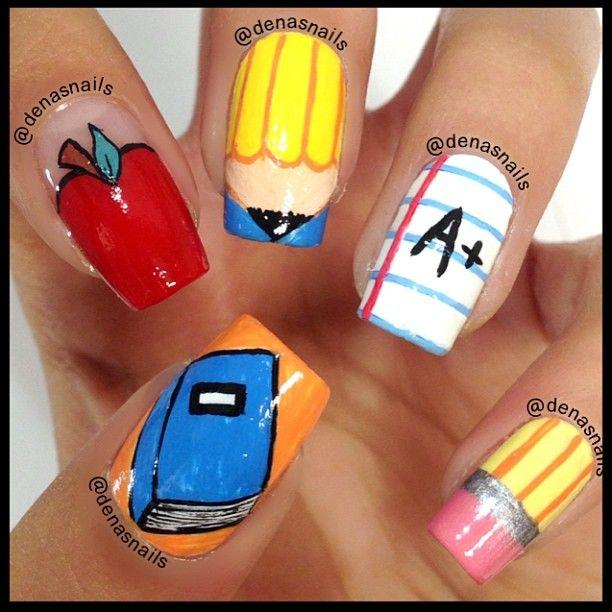 back to school  by denasnails  #nail #nails #nailart