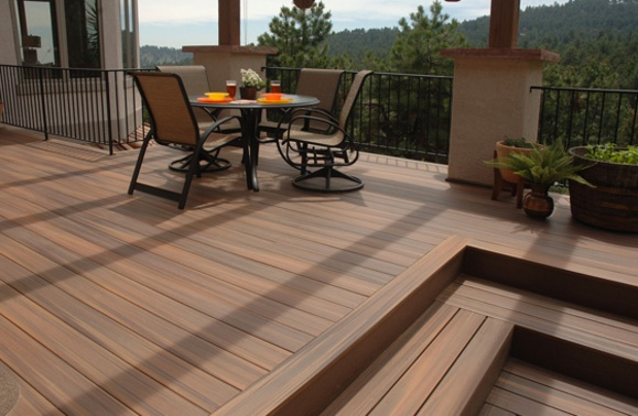 Fiberon Ipe Deck With Picture Frame And Ipe Stairs