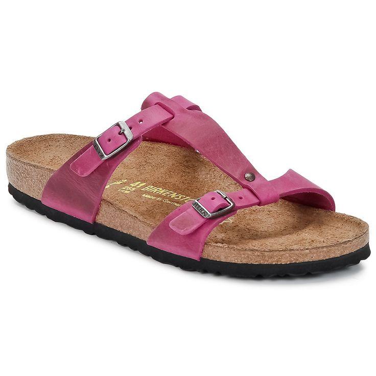 Mules Birkenstock LARISA Fuchsia - Chaussure pas cher avec Shoes.fr ! - Chaussures Femme 67,49 €